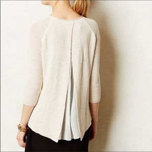 Anthropologie Moth French Quarter Cream Sweater